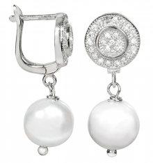 JwL Luxury Pearls Náušnice s bílou pravou perlou JL0107