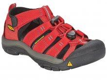 KEEN Dětské sandále Newport H2 Ribbon Red/Gargoyle 35