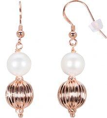 JwL Luxury Pearls Bronzové náušnice s pravou perlou JL0442