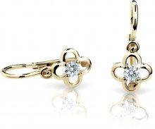 Cutie Jewellery Dětské náušnice C1944-10-X-1 bílá