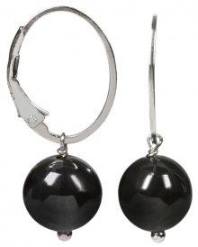 JwL Luxury Pearls Stříbrné náušnice s hematitem JL0152