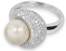 Silver Cat Stříbrný prsten s perlou SC127 60 mm