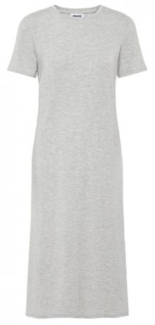 Vero Moda Dámské šaty Gava Ss Dress Wma Noos Light Grey Melange XS