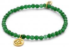 CO88 Zelený jadeitový náramek s holubičkou 865-180-090169-0000
