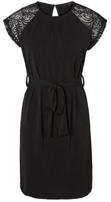 Vero Moda Dámské šaty Alberta Ss Lace Dress Noos Black XS