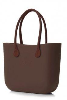 O bag kabelka Chocolate s hnědými dlouhými koženkovými držadly