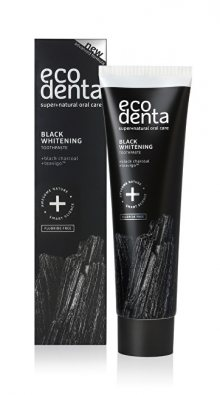 Ecodenta Černá bělicí zubní pasta s uhlím a extraktem Teavigo (Black Whitening Toothpaste) 100 ml