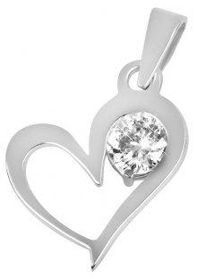 Brilio Zlatý přívěsek srdce s krystalem 246 001 00463 07 - 0,75 g