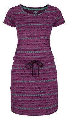 LOAP Dámské šaty Bereta Clover Pink Allover CLW1934-J45JY XS