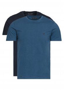 Spodní triko 2 ks Emporio Armani | Modrá | Pánské | L