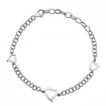 Hot Diamonds Stříbrný náramek Hot Diamonds Love DL564