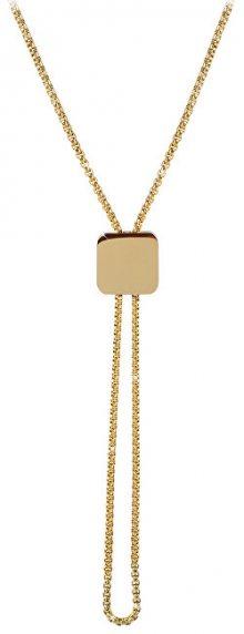 Troli Nastavitelný náhrdelník s kostičkou z pozlacené oceli