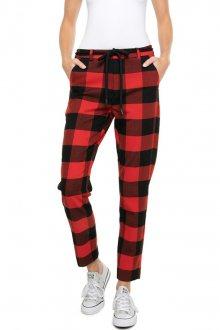 Scotch & Soda červené kalhoty v kostkovaném stylu - XS