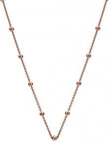 Hot Diamonds Stříbrný řetízek Emozioni Rose Gold Cable with Ball CH005