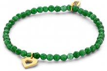 CO88 Zelený jadeitový náramek se srdíčkem 865-180-090160-0000