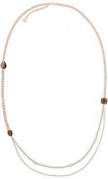 Michael Kors Pozlacený náhrdelník s kameny MKJ5827791