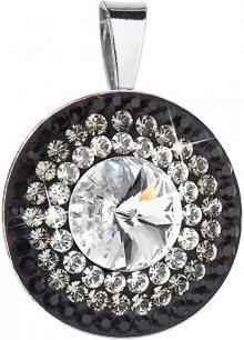 Evolution Group Překrásný stříbrný přívěsek 34207.3 crystal+jet