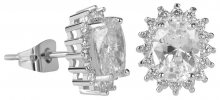 Troli Třpytivé náušnice s čirými krystaly