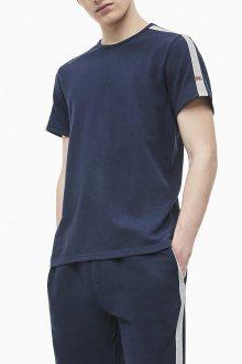 Calvin Klein tmavě modré pánské tričko S/S Crew Neck - M
