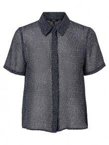 Vero Moda Dámská košile Dotty SS Shirt WVN Night Sky XS