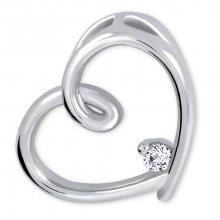 Brilio Silver Stříbrný přívěsek Srdce s krystalem 446 001 00226 04 - 2,63 g