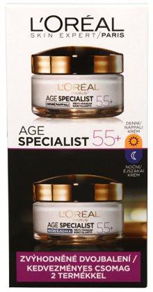 L\'Oréal Paris Age Specialist 55+ denní a noční krém proti vráskám 2 x 50 ml dárková sada