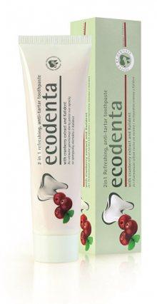 Ecodenta Osvěžující zubní pasta proti zubnímu kameni 2v1 s brusinkami a Kalidentem (2in1 Refreshing Anti-Tartar Toothpaste) 100 ml