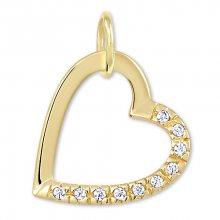 Brilio Zlatý přívěsek srdce s krystaly 249 001 00494 - 0,50 g