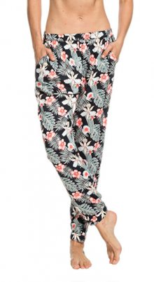 Roxy Dámské kalhoty Easy Peasy Pant Anthracite Tropicalababa Swim ERJX603137-KVJ8 XS