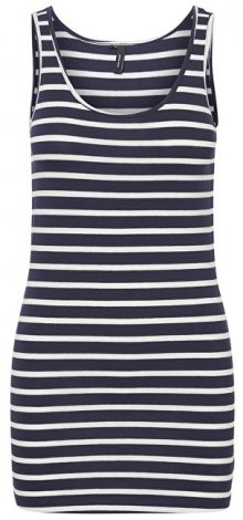 Vero Moda Dámské tílko Maxi My Soft Long T/T Stripe Ga Night Sky/Snow White XS