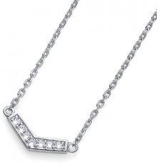 Oliver Weber Stříbrný náhrdelník s krystaly Bend 61145