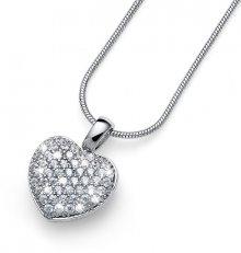 Oliver Weber Stříbrný náhrdelník s krystaly True Love 61147