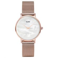 Cluse MinuitLaPerle Mesh Rose Gold/White Pearl CL30047