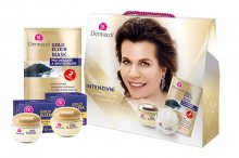 Dermacol Gold Elixir denní krém 50 ml + noční krém 50 ml + pleťová maska 2 x 8 ml dárková sada