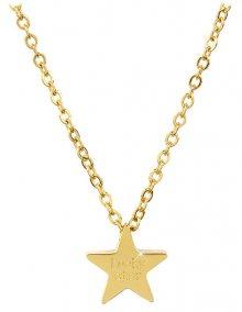 Troli Pozlacený ocelový náhrdelník Lucky Star