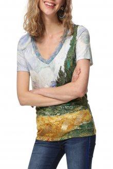 Desigual barevné tričko TS Van Gogh - S