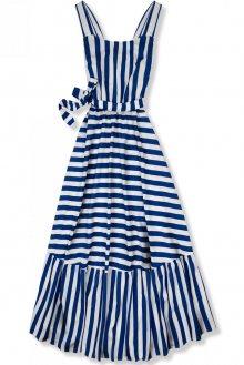 Modro-bílé maxi šaty v námořnickém stylu