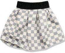 Šedá sukně kostky K2018
