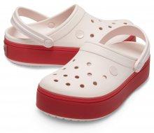 Crocs růžové pantofle na platformě Crocband Platform Clog Barely Pink/Pepper - 38/39