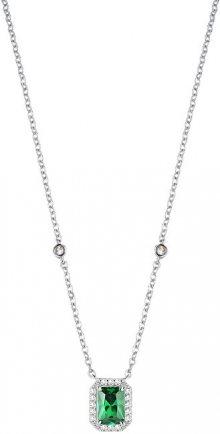 Morellato Stříbrný náhrdelník se zeleným krystalem Tesori SAIW55