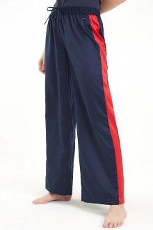 Tommy Hilfiger tmavě modré volnočasové kalhoty Wide Leg Pant - XS