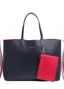 Tommy Hilfiger modrá taška Iconic Tommy Tote Corporate