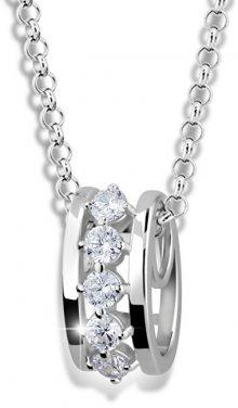 Modesi Módní náhrdelník ze stříbra M41090 (řetízek, přívěsek)