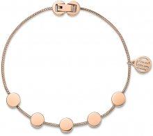 Tommy Hilfiger Růžově pozlacený ocelový náramek s přívěsky TH2700981