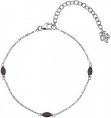 Hot Diamonds Stříbrný náramek Hot Diamonds Anais Granát AB001