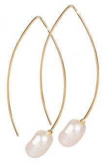 JwL Luxury Pearls Zlacené náušnice s pravou perlou JL0409