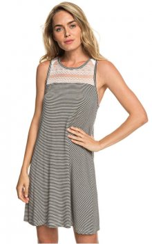 Roxy Dámské šaty What Lovers Do Anthracite Cosy Stripes ERJKD03239-KVJ4 XS