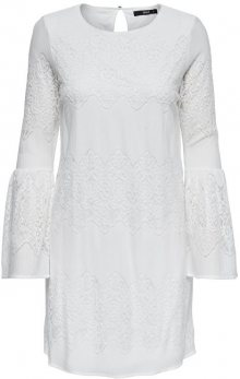 ONLY Dámské šaty Bella New Lace L/S Dress Wvn Cloud Dancer 36