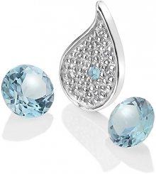 Hot Diamonds Stříbrný element Voda s modrými topazy Anais AC102