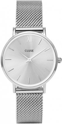 Cluse Minuit Mesh Full Silver CL30023